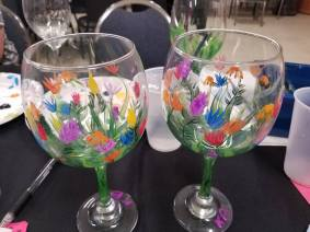 Blank Wine Glasses finished