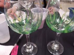 Blank Wine Glasses in process