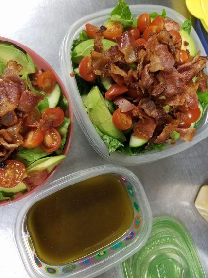 meal prep blt salads