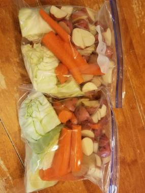 meal prep veggie pack for corned beef